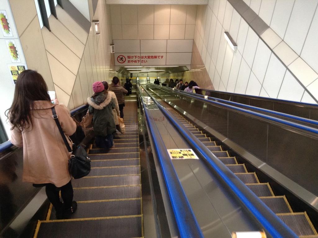 日本一長いエスカレーターは、大井町駅にあった!