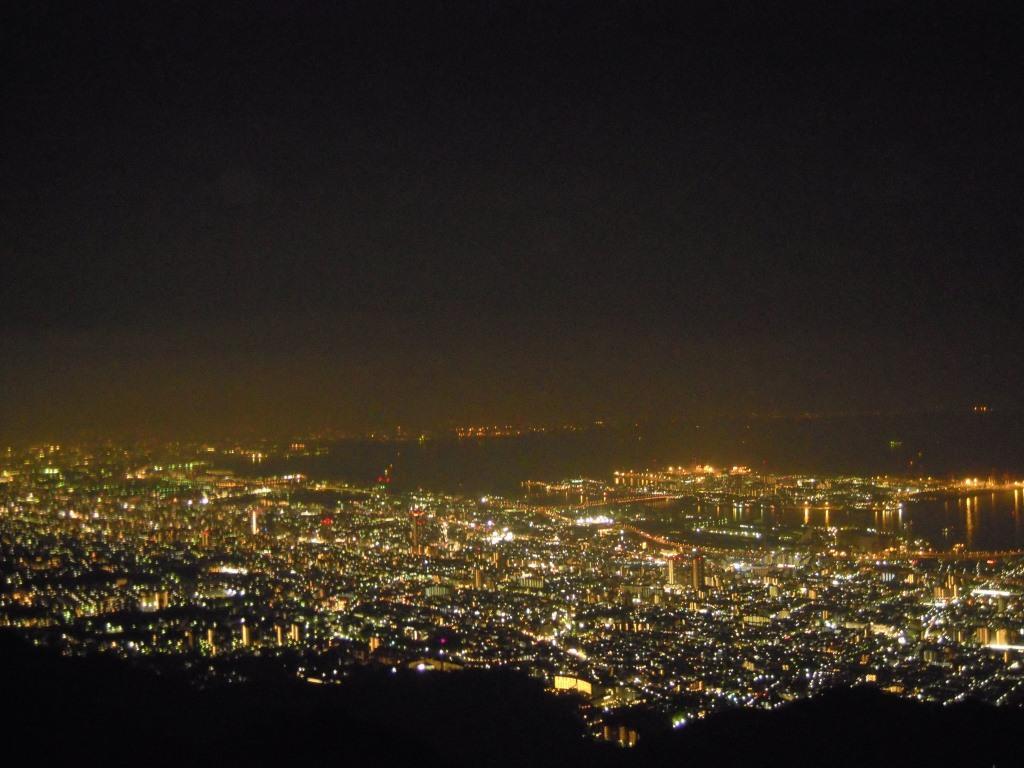 日本三大夜景の一つ、摩耶山の夜景