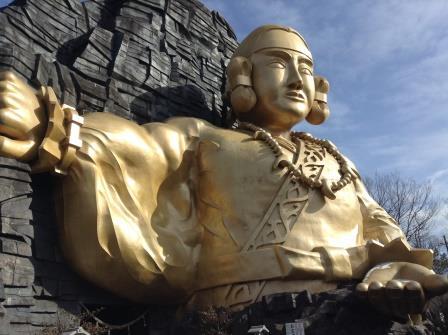 那須の巨大黄金像、那須別宮!