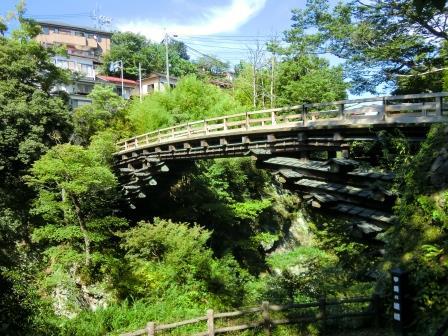 日本三大奇橋の一つ、猿橋