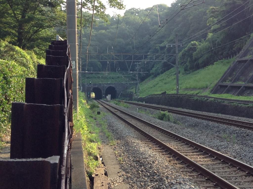 日本に現存する最古の鉄道トンネル、清水谷戸トンネル