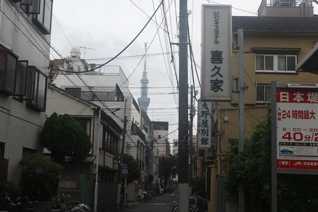 山谷のドヤ街